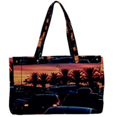 Urban Sunset Scene, Punta Del Este   Uruguay Canvas Work Bag