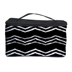 Black And White Chevrons Cosmetic Storage