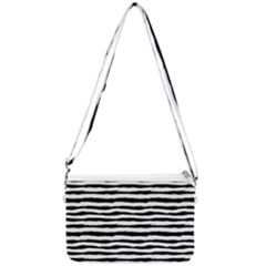 Drawing Waves Pattern Double Gusset Crossbody Bag