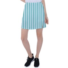 Mint Lines Tennis Skirt