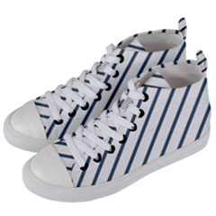 Blue Lines Women s Mid-top Canvas Sneakers by goljakoff