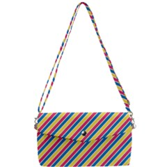 Colorful Lines Removable Strap Clutch Bag