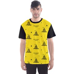 Gadsden Flag Don t Tread On Me Yellow And Black Pattern With American Stars Men s Sports Mesh Tee