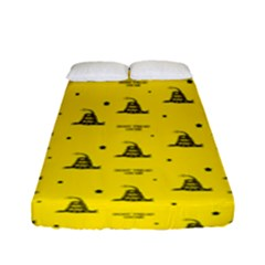 Gadsden Flag Don t Tread On Me Yellow And Black Pattern With American Stars Fitted Sheet (full/ Double Size)