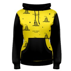 Gadsden Flag Don t Tread On Me Yellow And Black Pattern With American Stars Women s Pullover Hoodie