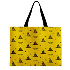Gadsden Flag Don t Tread On Me Yellow And Black Pattern With American Stars Medium Tote Bag