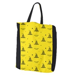 Gadsden Flag Don t Tread On Me Yellow And Black Pattern With American Stars Giant Grocery Tote