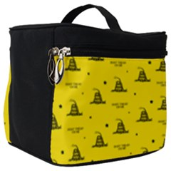 Gadsden Flag Don t Tread On Me Yellow And Black Pattern With American Stars Make Up Travel Bag (big)