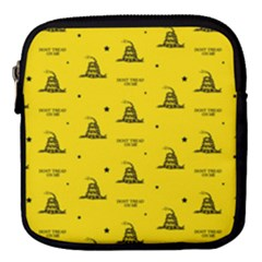 Gadsden Flag Don t Tread On Me Yellow And Black Pattern With American Stars Mini Square Pouch
