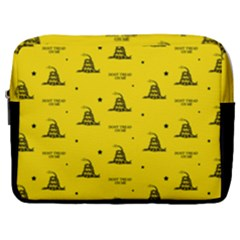 Gadsden Flag Don t Tread On Me Yellow And Black Pattern With American Stars Make Up Pouch (large)