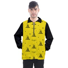 Gadsden Flag Don t Tread On Me Yellow And Black Pattern With American Stars Men s Half Zip Pullover by snek