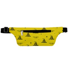 Gadsden Flag Don t Tread On Me Yellow And Black Pattern With American Stars Active Waist Bag