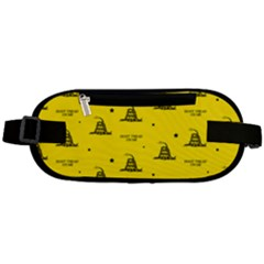 Gadsden Flag Don t Tread On Me Yellow And Black Pattern With American Stars Rounded Waist Pouch