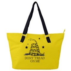 Gadsden Flag Don t Tread On Me Yellow And Black Pattern With American Stars Full Print Shoulder Bag