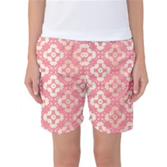 Pattern Formes Doré/rose Women s Basketball Shorts by kcreatif