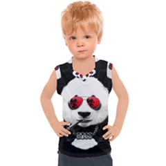Cool Panda Kids  Mesh Tank Top