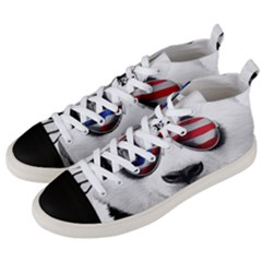 American Panda Men s Mid-top Canvas Sneakers by goljakoff