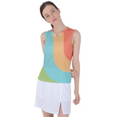 Summer Colors Palette Women s Sleeveless Mesh Sports Top