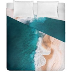 Sea Waves Duvet Cover Double Side (california King Size) by goljakoff