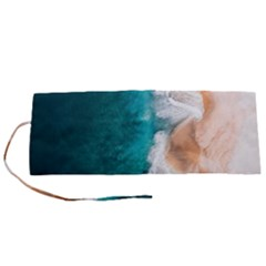 Sea Waves Roll Up Canvas Pencil Holder (s) by goljakoff