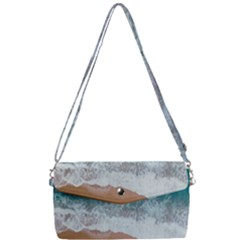 Sea Waves Removable Strap Clutch Bag
