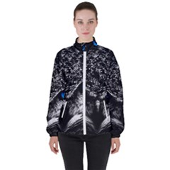 Owl Blue Eyes Women s High Neck Windbreaker