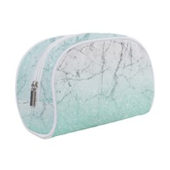 Azure Glitter Marble Makeup Case (small)