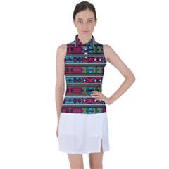 Shapes Rows                                                Women's Sleeveless Polo by LalyLauraFLM