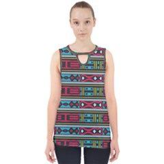 Shapes Rows                                                 Cut Out Tank Top by LalyLauraFLM