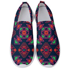 Rhombus Squares And Triangle                                                 Men s Slip On Sneakers by LalyLauraFLM