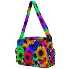 Colorful Sunflowers                                                Buckle Multifunction Bag by LalyLauraFLM