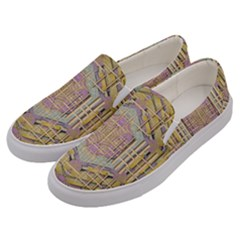 Temple Of Wood With A Touch Of Japan Men s Canvas Slip Ons by pepitasart