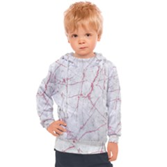 Pink Glitter Marble Kids  Hooded Pullover