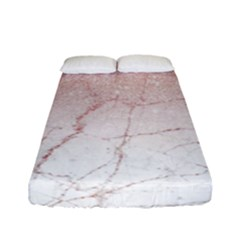 Rose Glitter Marble Fitted Sheet (full/ Double Size) by goljakoff