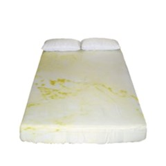 Yellow Marble Fitted Sheet (full/ Double Size) by goljakoff
