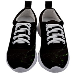Dark Green Marble Kids Athletic Shoes