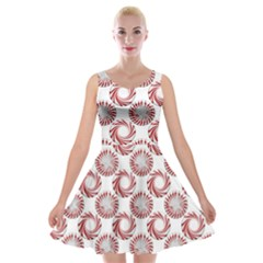 Peppermint Candy Dots Velvet Skater Dress by bloomingvinedesign