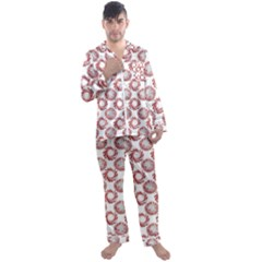 Peppermint Candy Dots Men s Satin Pajamas Long Pants Set by bloomingvinedesign