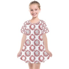 Peppermint Candy Dots Kids  Smock Dress by bloomingvinedesign