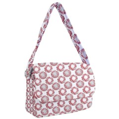 Peppermint Candy Dots Courier Bag by bloomingvinedesign