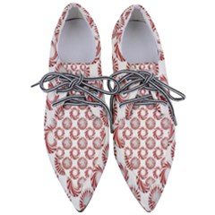 Peppermint Candy Dots Women s Pointed Oxford Shoes by bloomingvinedesign