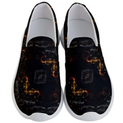 Abstract Animated Ornament Background Fractal Art Men s Lightweight Slip Ons by Bejoart