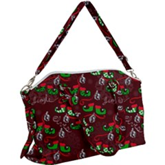 Elves Jingle Canvas Crossbody Bag by bloomingvinedesign