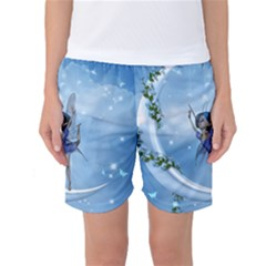 Little Fairy Dancing On The Moon Women s Basketball Shorts by FantasyWorld7