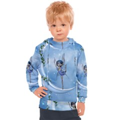 Little Fairy Dancing On The Moon Kids  Hooded Pullover