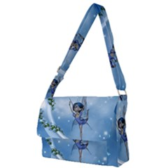 Little Fairy Dancing On The Moon Full Print Messenger Bag (l)
