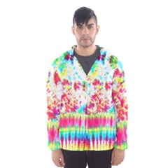 Pattern Decorated Schoolbus Tie Dye Men s Hooded Windbreaker