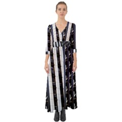 Architecture Building Pattern Button Up Boho Maxi Dress by Amaryn4rt