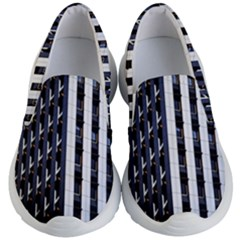 Architecture Building Pattern Kids Lightweight Slip Ons by Amaryn4rt