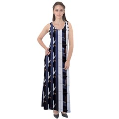 Architecture Building Pattern Sleeveless Velour Maxi Dress by Amaryn4rt